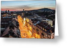 The Nights Of Sarajevo Greeting Card