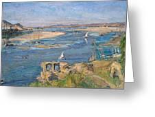 The Nile Near Aswan Greeting Card