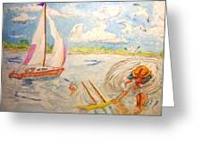 The None Such Sailboat Greeting Card