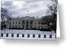 The North View Of The White House Greeting Card