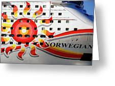 The Norwegian Sun Bow Greeting Card by Susanne Van Hulst