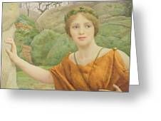 The Nymph Greeting Card by Thomas Cooper Gotch