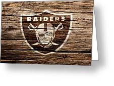 The Oakland Raiders 1f Greeting Card