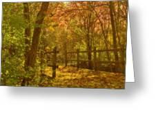 The Oakwood Bridge Greeting Card