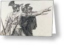 The Oath Of The Horatii, Detail Of The Horatii  Greeting Card