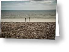 The Ocean Can Make You Feel Small, Bognor Regis, Uk. Greeting Card