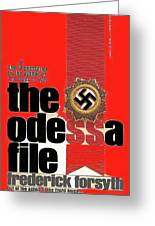 The Odessa File Frederick Forsyth Book Cover 1972 Color Added 2016 Greeting Card