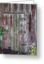 The Old Barn Door Greeting Card