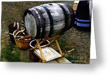 The Old Beer Barrel Greeting Card
