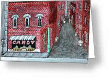 The Old Brick Candy Store Greeting Card
