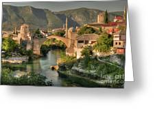 The Old Bridge Of Mostar  Greeting Card