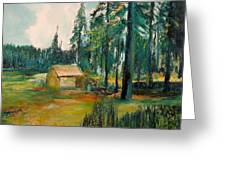The Old Cabin Greeting Card