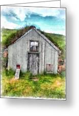 The Old Chicken Coop Iceland Turf Barn Greeting Card