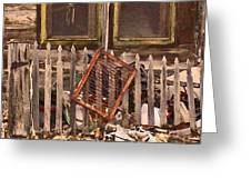 The Old Cooper House Front Grate Greeting Card