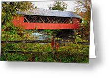 The Old Creamery Covered Bridge Greeting Card