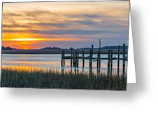 The Old Dock - Charleston Low Country Greeting Card