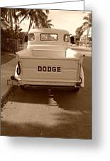 The Old Dodge Greeting Card