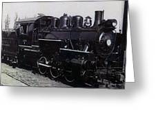The Old Engine Greeting Card