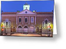 The Old Exchange And Provost Dungeon At Twilight Charleston South Carolina Greeting Card