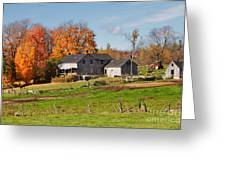 The Old Farm In Autumn Greeting Card