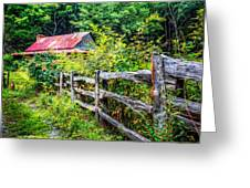 The Old Fence Greeting Card