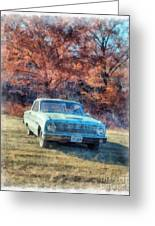 The Old Ford On The Side Of The Road Greeting Card
