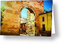 The Old Gate  Greeting Card