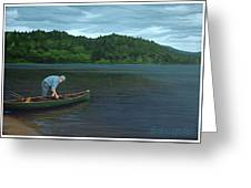 The Old Green Canoe Greeting Card