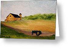 The Old Green Tractor Greeting Card