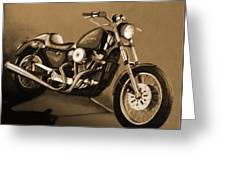 The Old Harley Greeting Card