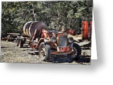 The Old Jalopy In Wine Country, California  Greeting Card