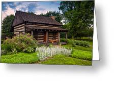 The Old Log Home  Greeting Card