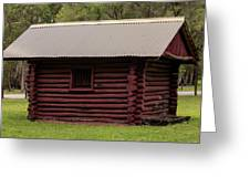 The Old Log Hut Greeting Card