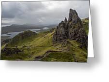 The Old Man Of Storr, Isle Of Skye, Uk Greeting Card