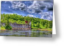 The Old Mckeever Pulp Mill Greeting Card