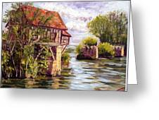 The Old Mill Of Vernon Greeting Card