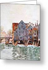 The Old Mills At Meaux Greeting Card