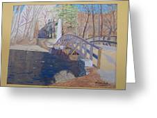 The Old North Bridge In Concord Ma Greeting Card by William Demboski