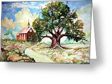 The Old Oak Church Greeting Card