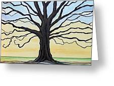The Stained Old Oak Tree Greeting Card