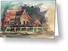 The Old Old House Greeting Card