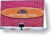The Old Pittman Store Sign Greeting Card
