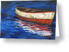 The Old Red Boat 2011 Greeting Card