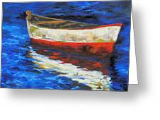 The Old Red Boat II  Greeting Card