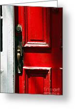 The Old Red Door Greeting Card
