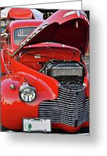 The Old Red Jalopy Greeting Card