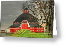 The Old Round Barn Of Ohio Greeting Card