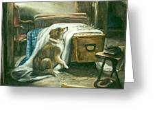 The Old Shepherd's Chief Mourner After Sir Edwin Landseer Greeting Card