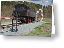 The Old Steam Locomotive Greeting Card