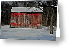 The Old Weathered Barn Greeting Card